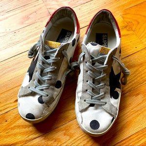 Golden Goose Polka Dot Superstar Sneakers